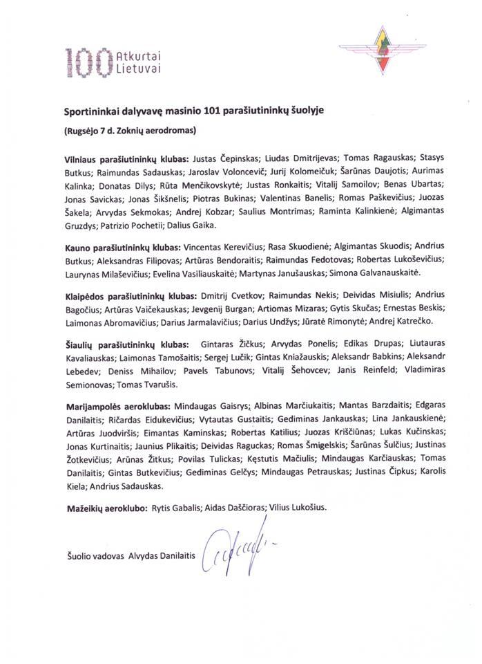🇱🇹💯Aeroklubui įteiktas Lietuvos rekordą patvirtinantis dokumentas